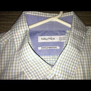 Like New Nautica Button Down Collared Shirt